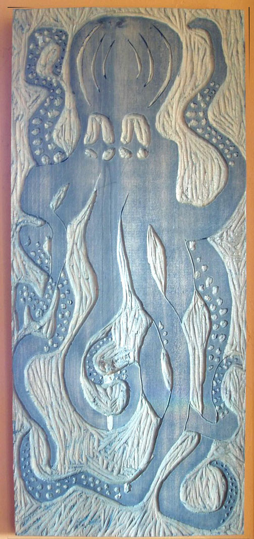 One of my woodblock prints